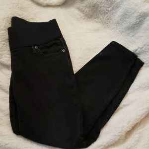Gap, Maternity, Black, skinny, crop jeans
